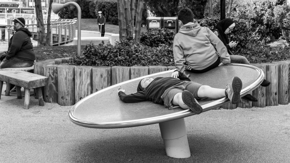 Chillin at Frank's park, Hoboken NJ